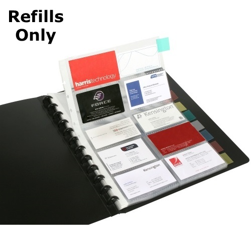 Business card books binders wallets refill pages for use with marbig kwik zip a4 business card book 2021002 reheart Image collections